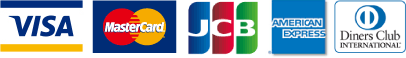 VISA/MASTER/JCB/AmericanExpress/Diners